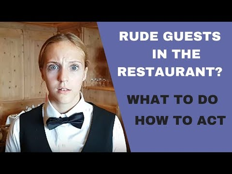 HOW TO DEAL WITH RUDE GUESTS IN THE RESTAURANT! WAITER TRAINING VIDEO! Mp3