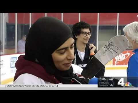 United Arab Emirates Female Hockey Player Impresses the Capitals During Dream Visit