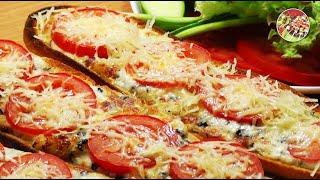Пицца - блиц на свежем багете. Просто, вкусно, недорого.