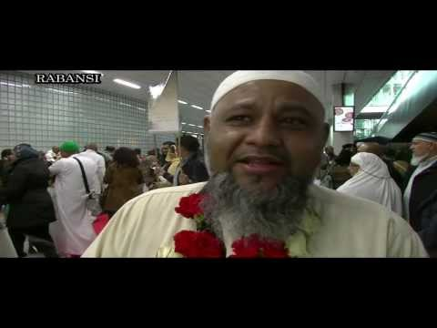 Hudjaajd-E-Kiraam return to Amsterdam Holland 29th oct 2013