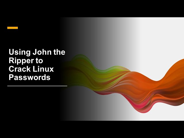 Using John the Ripper to Crack Linux Passwords