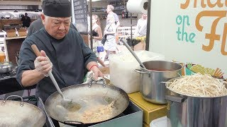 Pad Thai Noodles with Shrimps Tasted in Broadway Market. Street Food of London