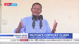 Governor Alfred Mutua admonished Musalia Mudavadi for purportedly copying him