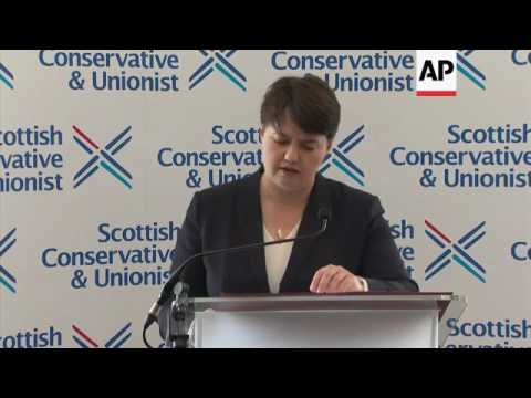 Conservative leader in Scotland cheers gains