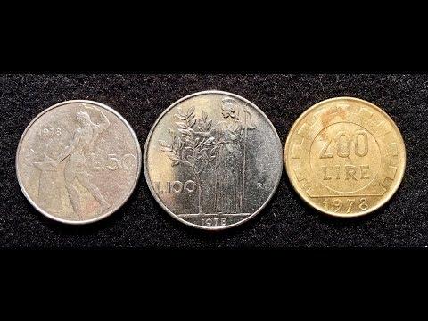 1978 Italy 50, 100, 200 Lire Coins === Pre-Euro Coins