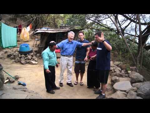 Praying with natives in Guatemala