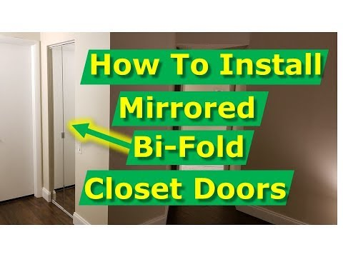 How To Install Bifold Mirror Closet Doors DIY Like The Pros