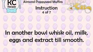 Almond Poppyseed Muffins - Kitchen Cat