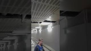 Grosse fuite dû à  l orage gare de Lyon Paris
