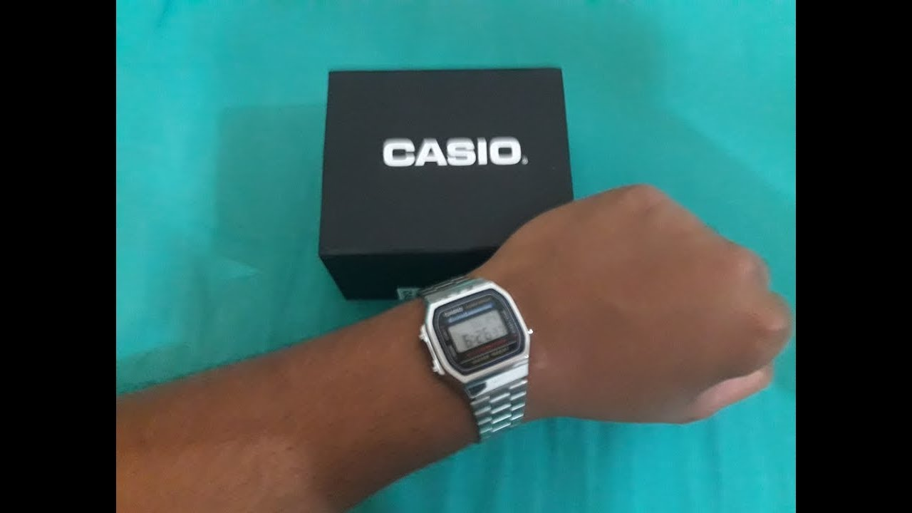 a392145be1f RELÓGIO CASIO VINTAGE PRATA (ENSINANDO A REGULAR PULSEIRA)  UNBOXING6    CADIN FILMS