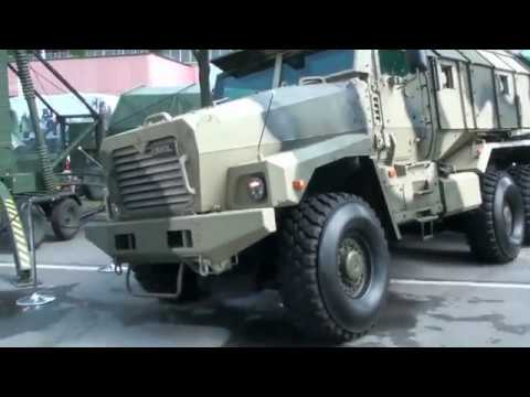 "Ural-63099 ""Typhoon-U"" showcasing its clever suspension in Eurosatory !!!"