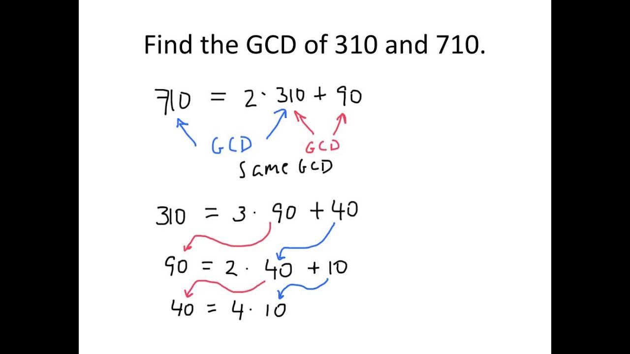 Abstract Algebra: Using the Euclidean Algorithm to Compute GCD ...