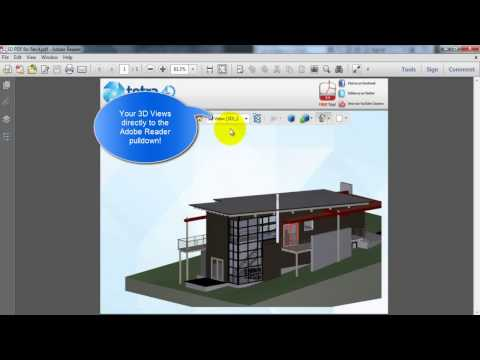 How to Creat a 3D PDF with tetra4D Plug Ins - YouTube