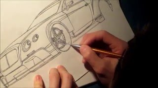 Drawing  A Bentley Continental GT3 PART01