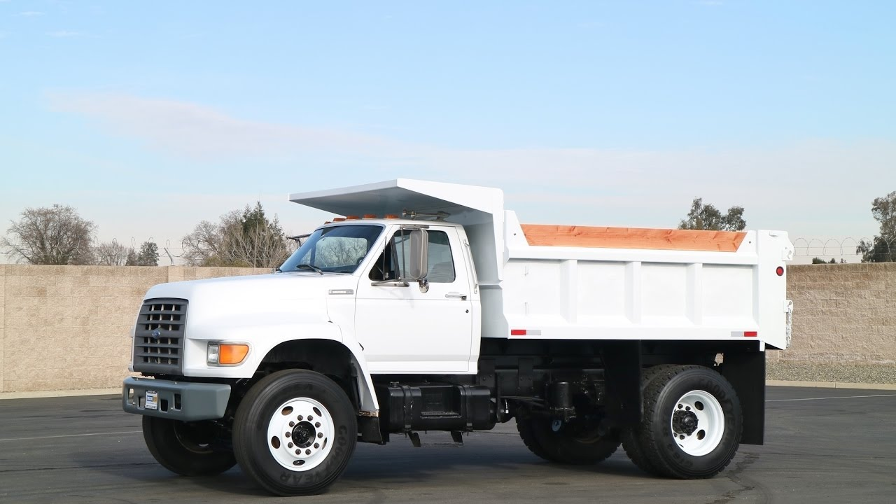 1996 ford f800 57 yard dump truck youtube
