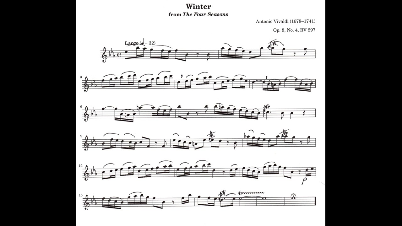 Seasons Of Largo >> A Vivaldi Largo From Four Seasons Winter