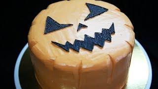 видеоурок: торт Тыква на Хеллоуин | How to Make a Halloween Pumpkin Cake