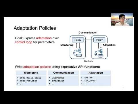 OSDI '20 - KungFu: Making Training in Distributed Machine Learning Adaptive