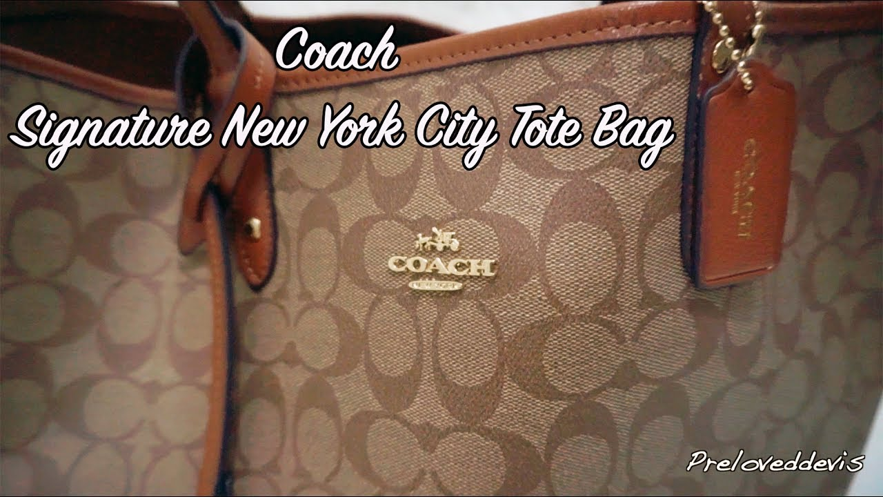 Coach Signature New York City Tote Bag