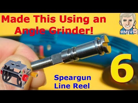 Made this Shaft using a Angle Grinder- DIY Line Reel Part 6 / Speargun  Part 13