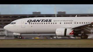 Qantas 737-838 Landing Into Melbourne Airport - [vh-vxr]