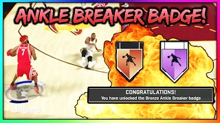 NEW FASTEST WAY TO GET ANKLE BREAKER BADGE IN NBA 2K18! | HALL OF FAME ANKLE BREAKER BADGE IN 2 GAME
