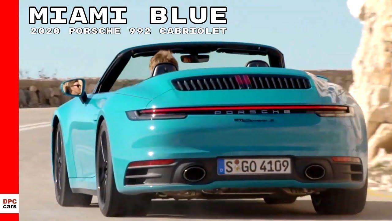2020 Porsche 992 911 Carrera S Cabriolet , Miami Blue