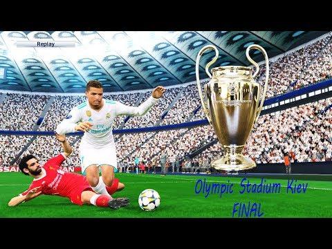 Real Madrid vs Liverpool FINAL 2018 | Olimpiyskiy Stadium Kiev | UEFA Champions League PES