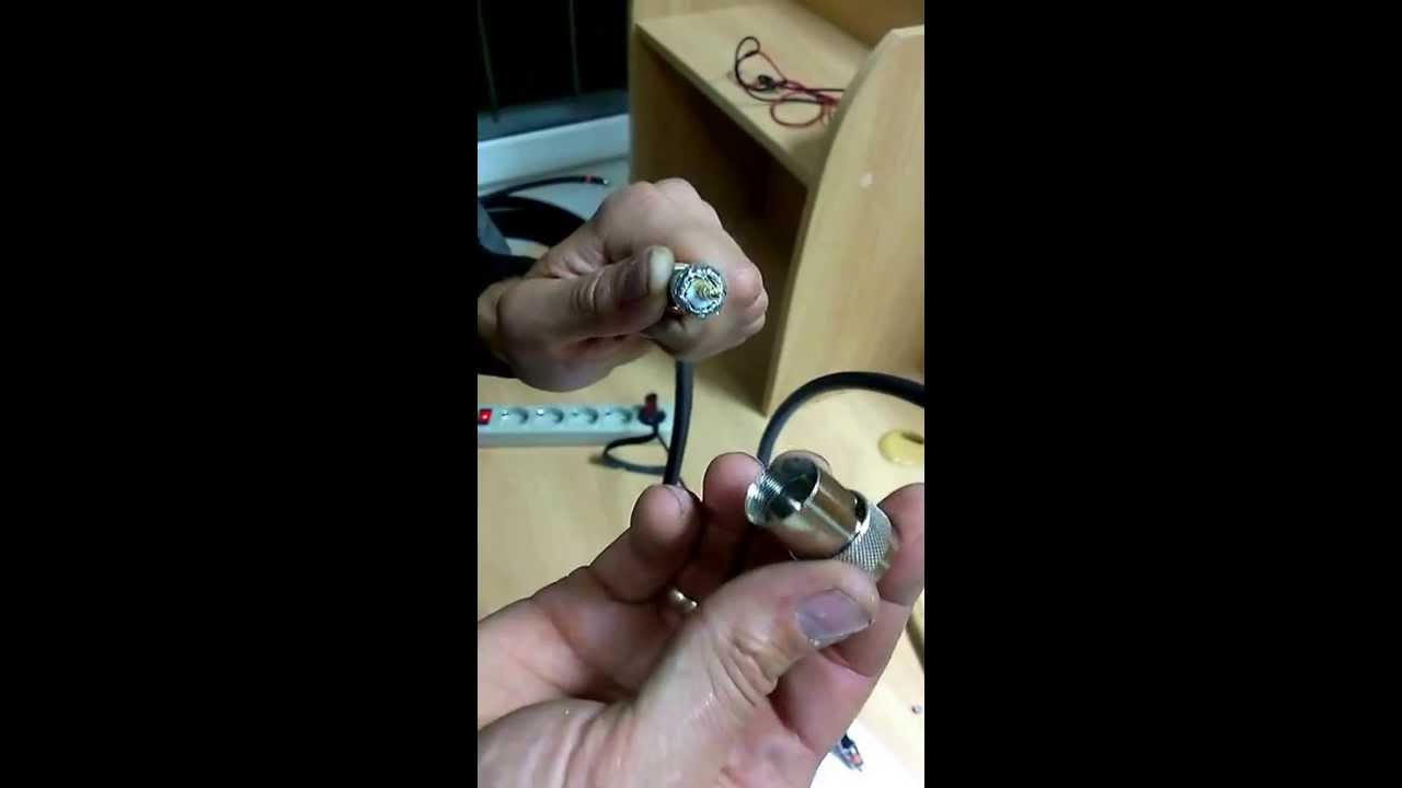 Разъём Picocell N-112/10D N-male, прижимной, на кабель 10D - YouTube