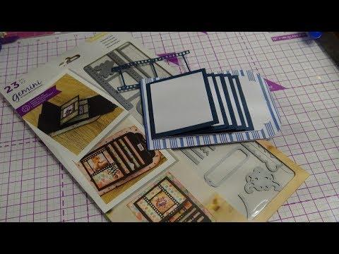 Crafter's Companion Precious Memories Waterfall Card Dies Review Tutorial!