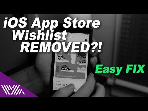iOS App Store Wishlist Gone?! How to make a new wishlist