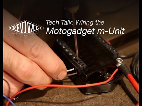Wiring the Motogadget m-Unit V2 - Revival Cycles Tech Talk - YouTube