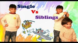 single child vs bhai and bahen | Single Vs Siblings | FunWithAnaghAadriti