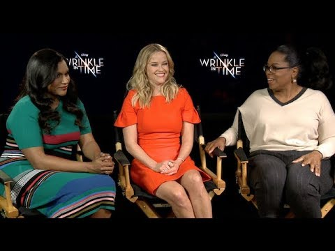 OPRAH, REESE WITHERSPOON AND MINDY KALING interview for A Wrinkle In Time