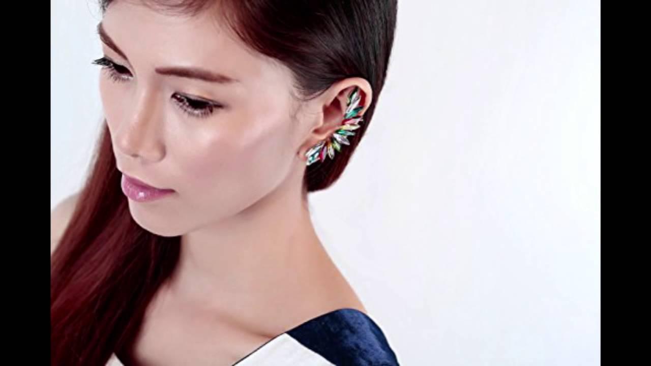 Okajewelry Crystal Ear Cuff Cartilage Wrap Earring(left Ear, 1 Piece)