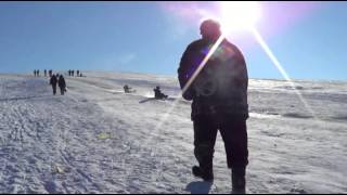 Зима в Уштобе