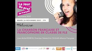La chanson française et francophone en classe de FLE avec Michel BOIRON