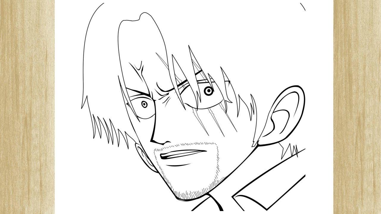 Como Desenhar O Shanks O Ruivo De One Piece