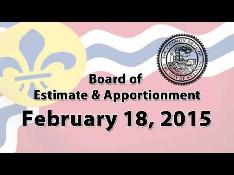 Estimate & Apportionment   February 18, 2015