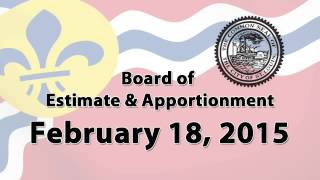 Estimate & Apportionment   February 18, 2015