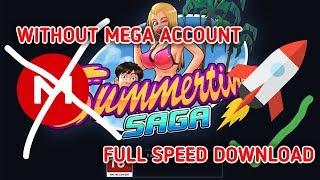 [HOW TO] Download Summertime Saga FULL SPEED | Cara Download Summertime Saga Tanpa akun Mega