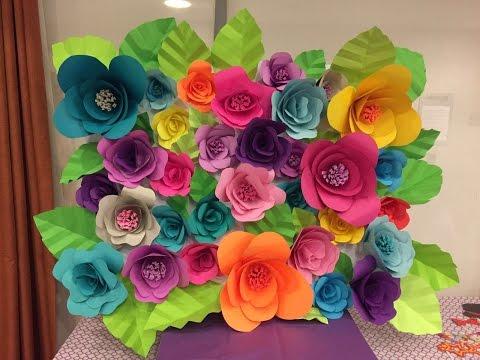 DIY Paper Flower Backdrop - Part 2/2