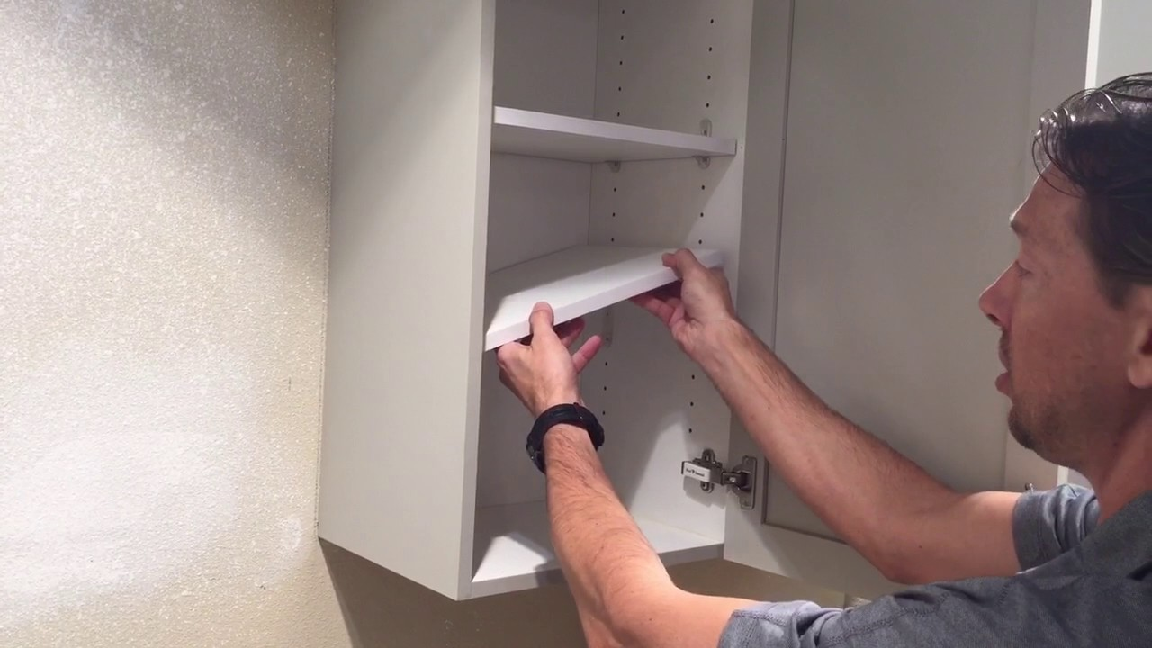 Tutorial How To Remove A Shelf From A Kitchen Cabinet