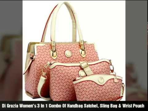 Di Grazia Women s 3 In 1 Combo Of Handbag Satchel f26bc9889b9c1