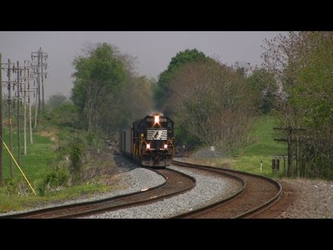 Trains on the Norfolk Southern Harrisburg Line Late Spring 2013