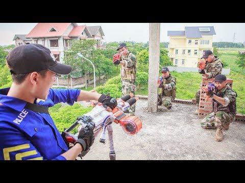 Nerf Guns War :  SEAL TEAM Special Fight Attack Dangerous Criminals Nerf Mega