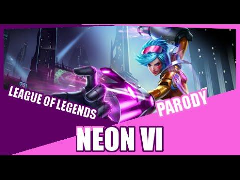 『Neon Vi』 Neon Lights Demi Lovato League of Legends Parody