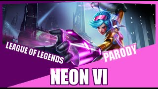 Repeat youtube video 『Neon Vi』 Neon Lights Demi Lovato League of Legends Parody