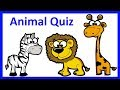 ANIMALS' QUIZ   Learn English Zoo Animals Names for Kids