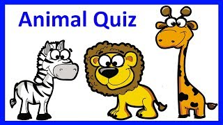 Animals' Quiz | Learn English Zoo Animals Names For Kids